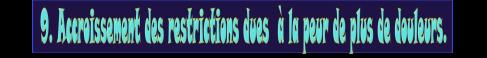 9 Accroissement des restrictions dues à la peur de plus de douleur vignette.png