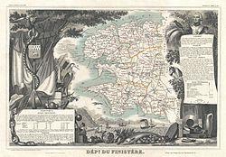 carte du Finistère